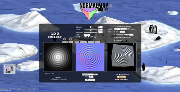 Creating height maps and normal maps normalmap online a free normal map generator that you can use in your browser gumiabroncs Gallery
